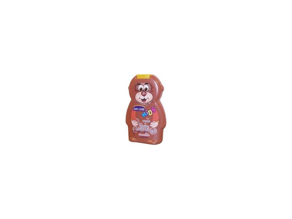 On Line Kids Chocolate Sprchový gel+Šampon 250ml