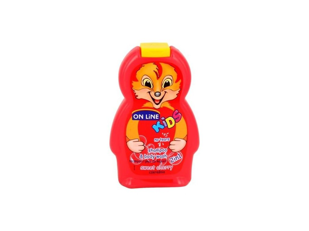 On Line Kids Sprchový gel+Šampon 250ml Sweet Cherry Spr.gel+Šampon 250ml