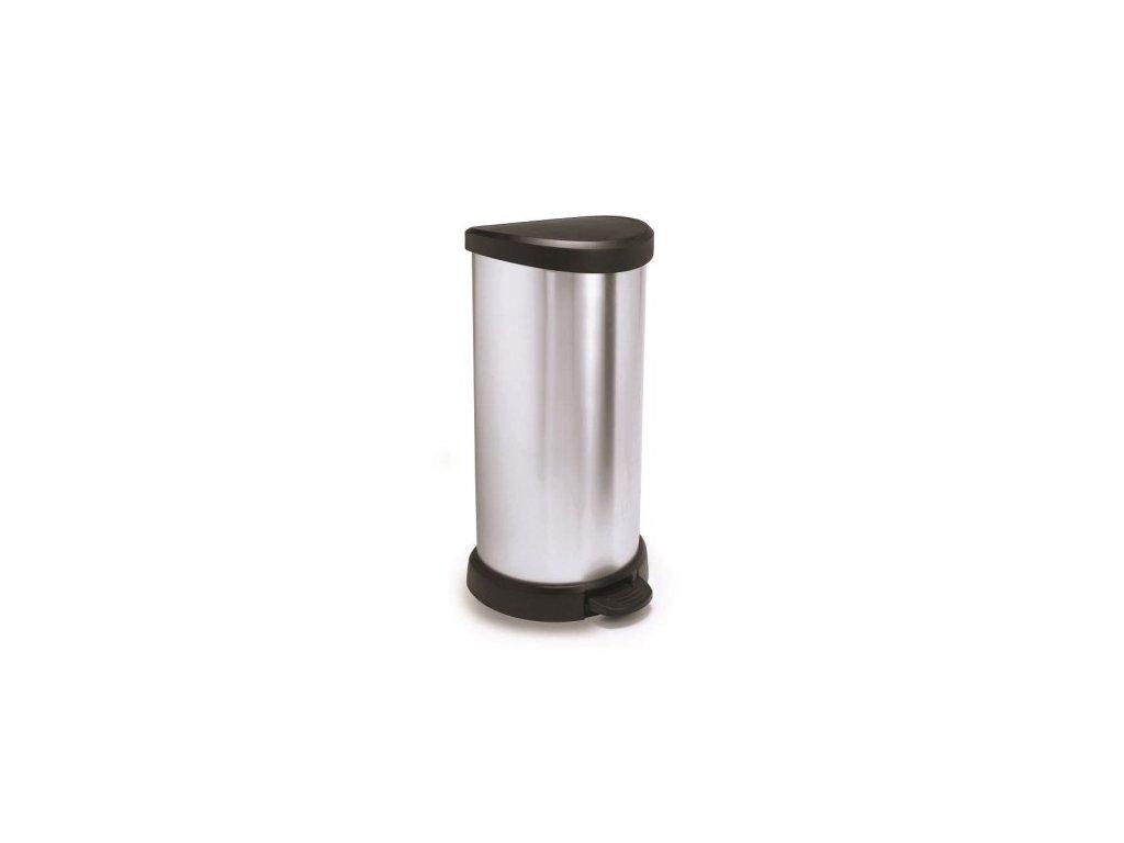 Odpadkový koš DECOBIN 40l - stříbrný