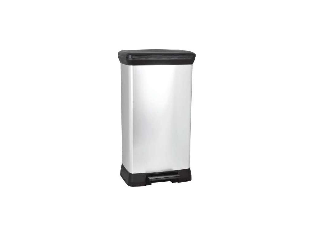 Odpadkový koš DECOBIN pedal 50l - stříbrný