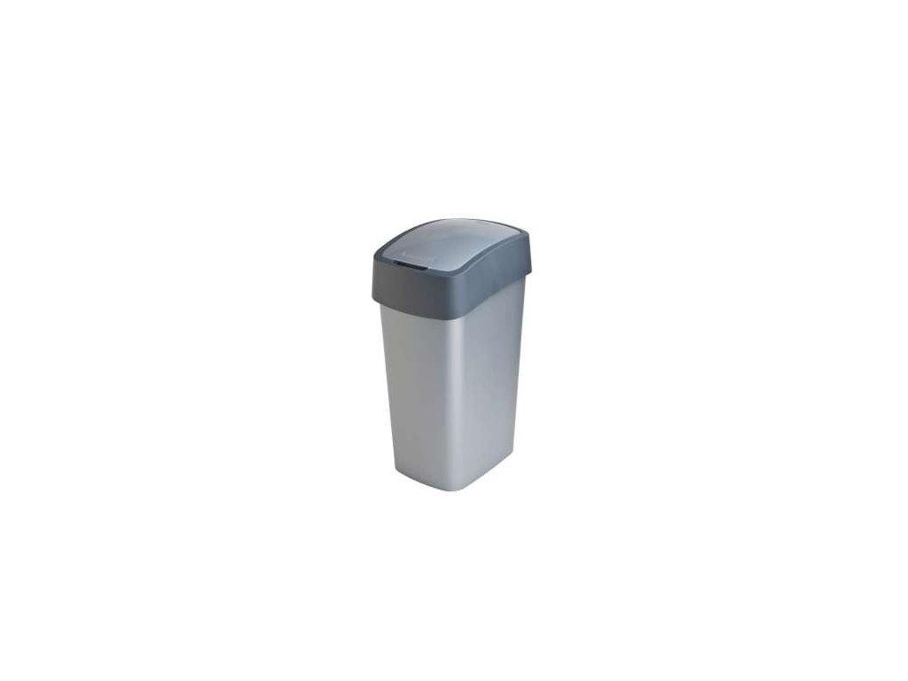 Odpadkový koš FLIPBIN 50l - šedý