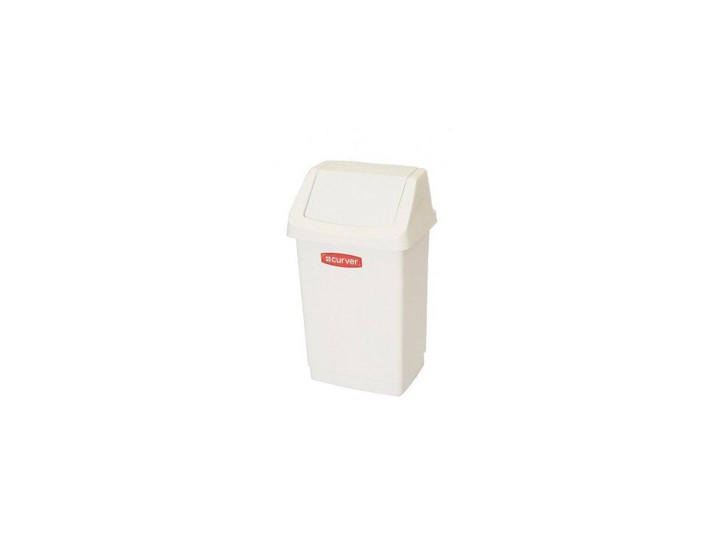Koš odpadkový CLICK 9l - bílý