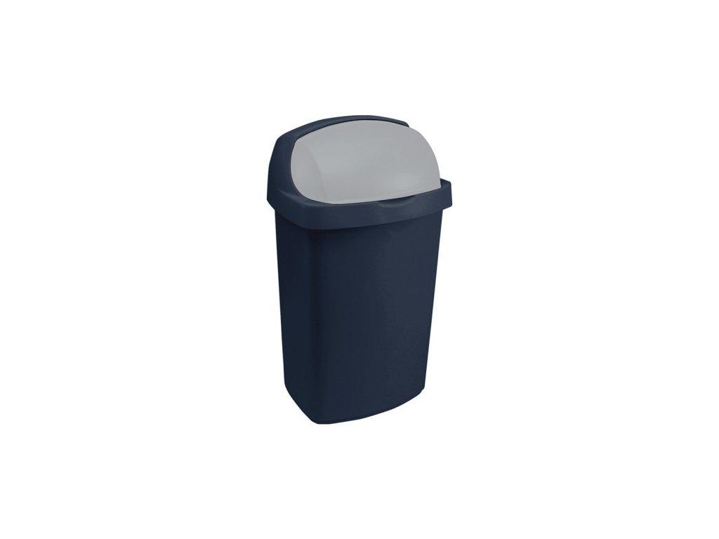 Koš odpadkový ROLL TOP 50l -modrý