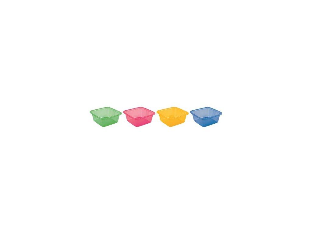 Umyvadlo čtverec TRANSPARENT 7,2l - MIX
