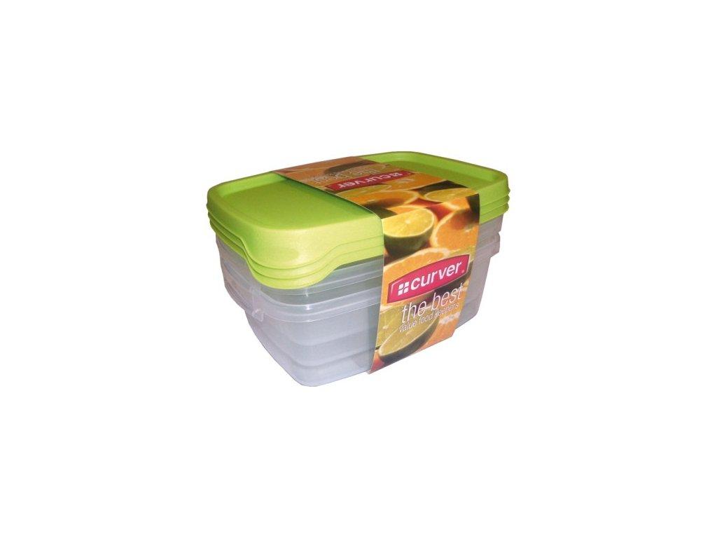 TAKE AWAY FOODK set 1,2Lx3 - zelené