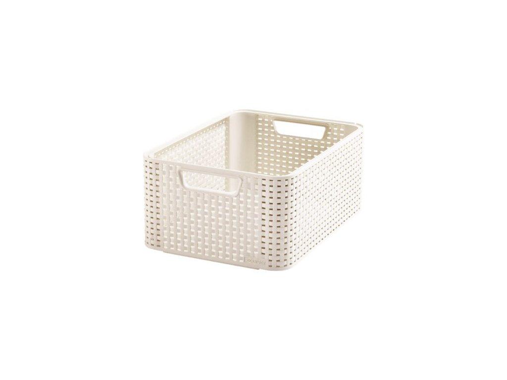 úložný STYLE BOX - M- krémový