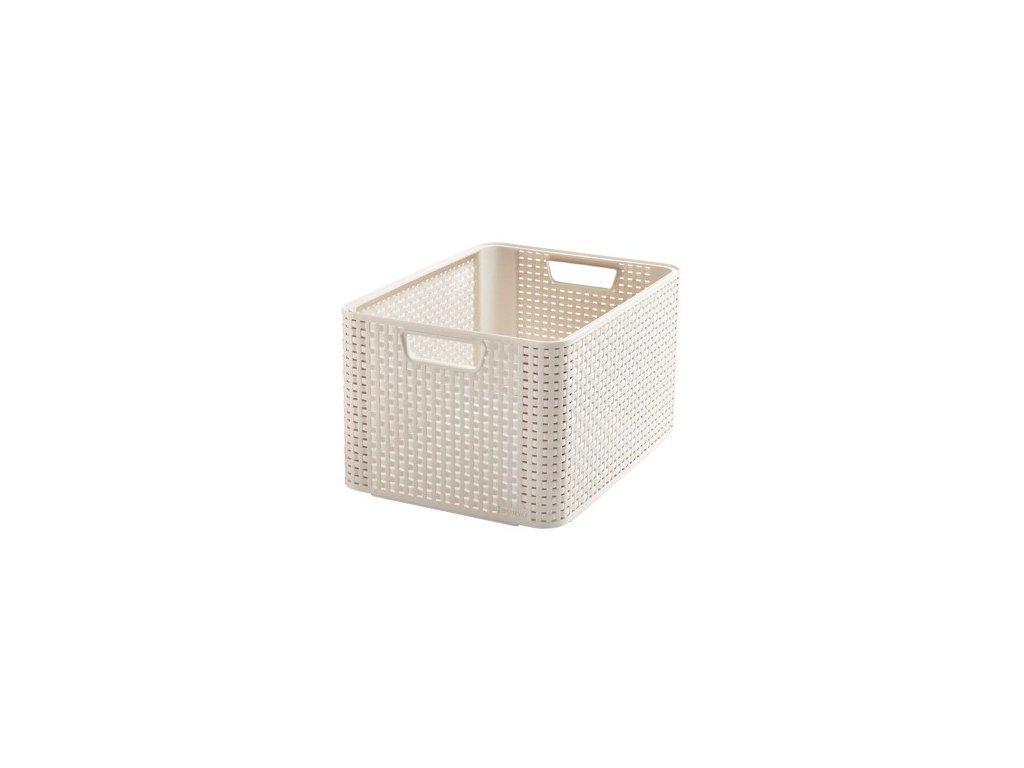 úložný STYLE BOX - L- krémový