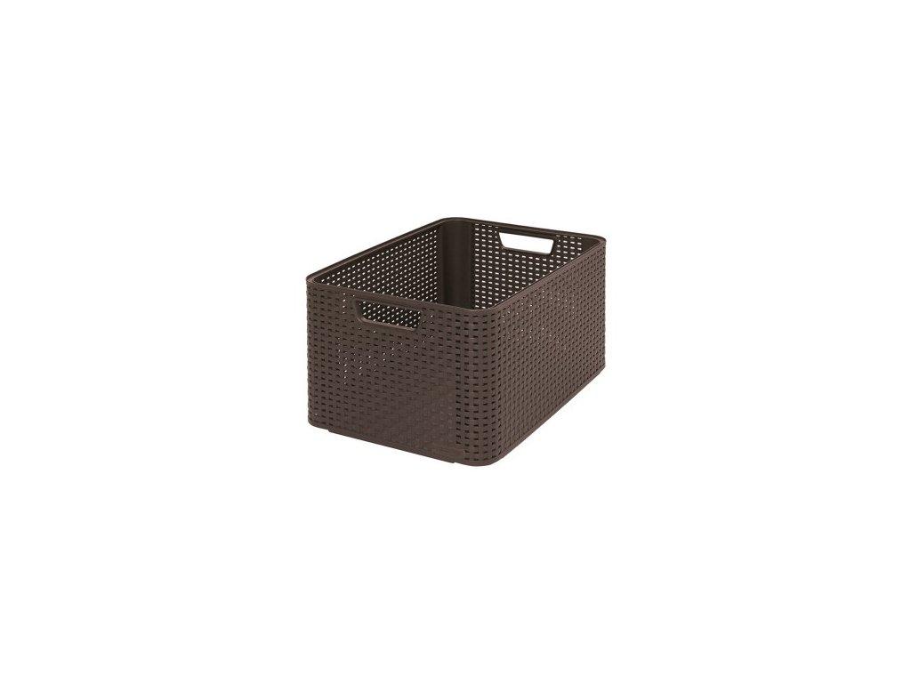 úložný STYLE BOX - L- tm. hnědý