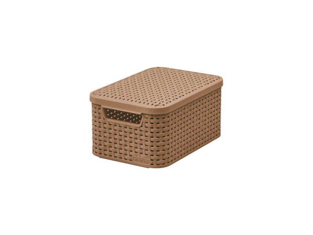úložný STYLE BOX s víkem - S - hnědá