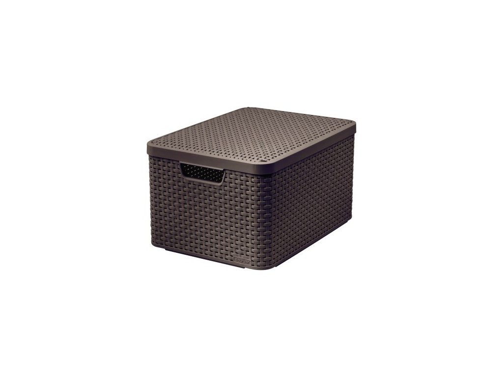 úložný STYLE BOX s víkem - L - hnědý