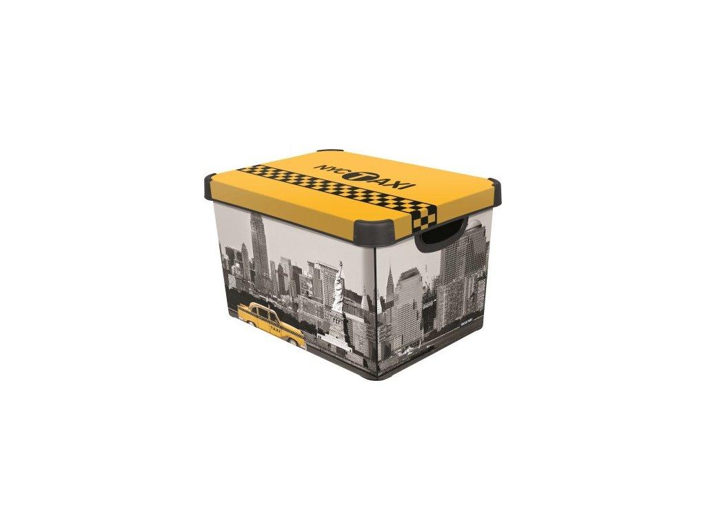 úložný box s víkem - NEW YORK - L