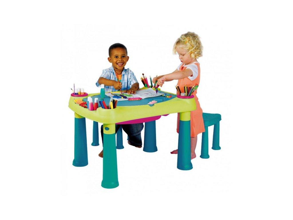 CREATIVE PLAY TABLE + stoličky