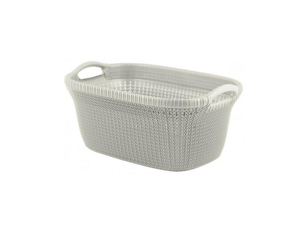 KNIT koš na čisté prádlo - 40L - krémový
