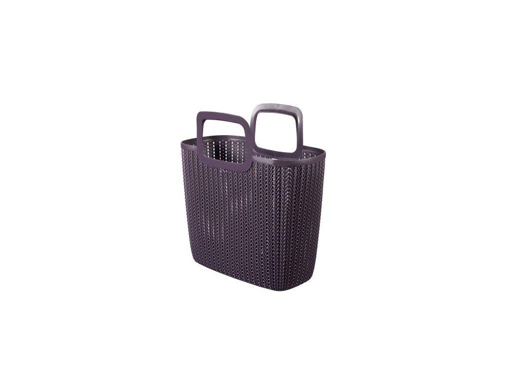 Nákupní taška KNIT - fialová