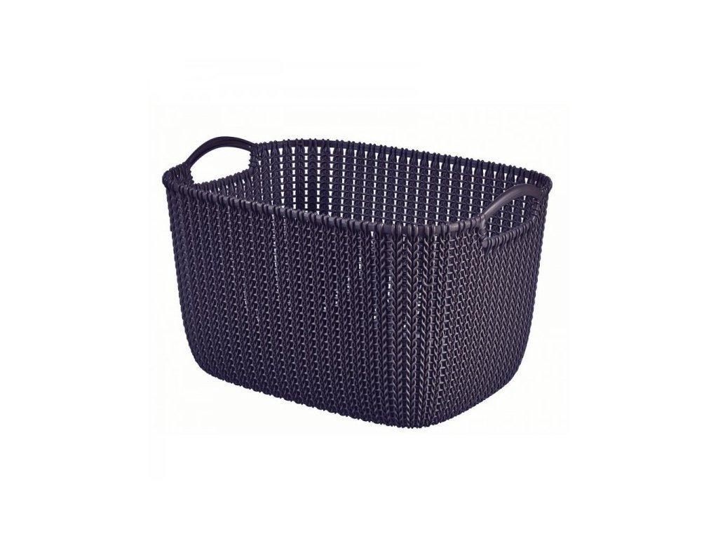 KNIT košík 19L - fialový