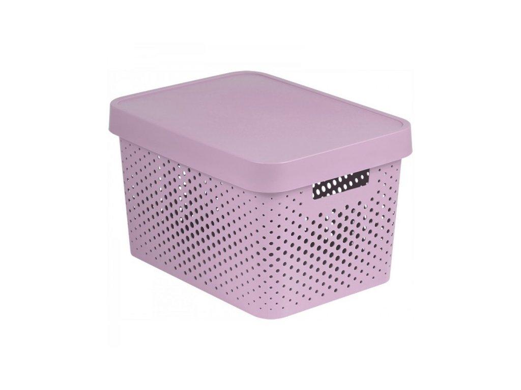 INFINITY DOTS box 17L - růžový