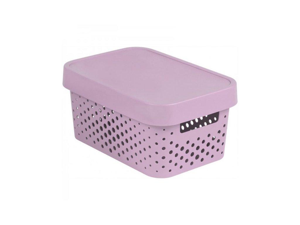 INFINITY DOTS box 4,5L - růžový