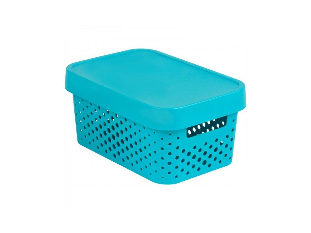 INFINITY DOTS box 4,5L - modrý
