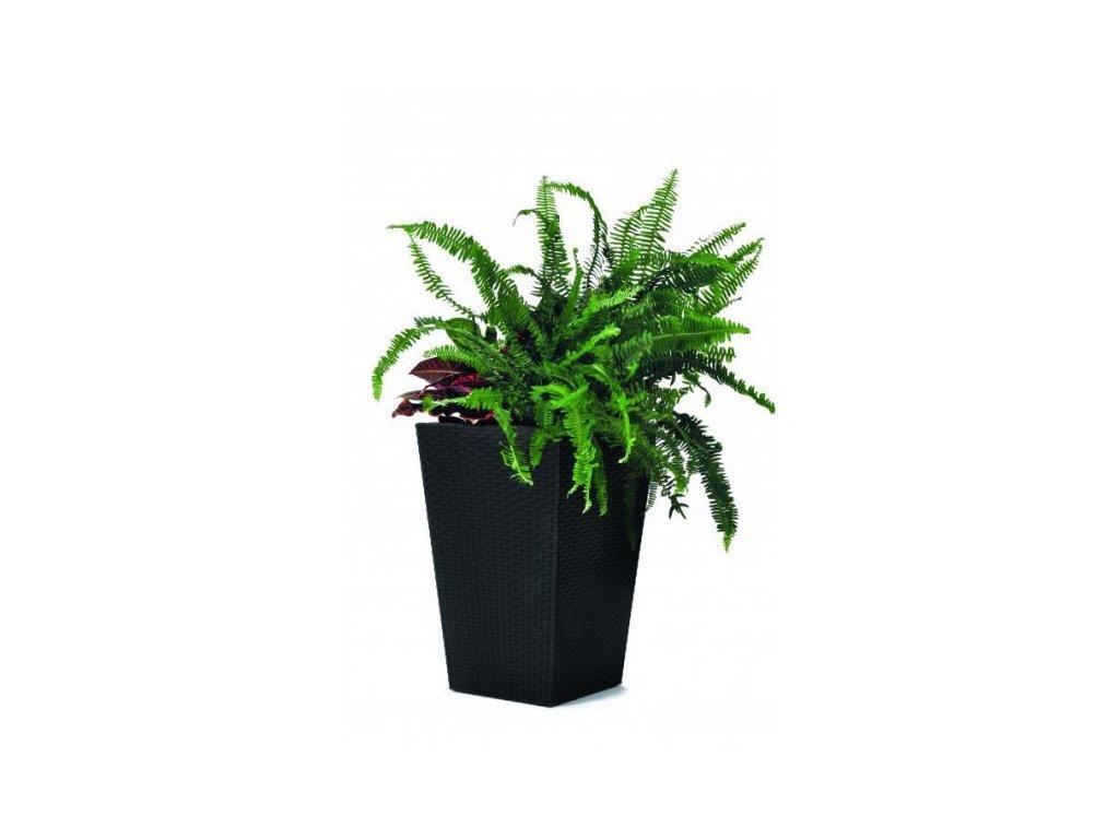 Rattan planter S - grafit
