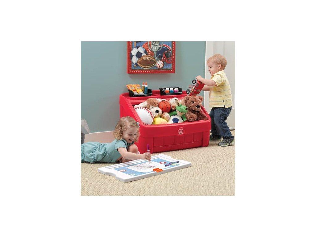 STEP2 Box na hračky 2v1 - červený