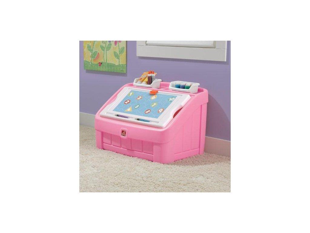 STEP2 Box na hračky 2v1 - růžový