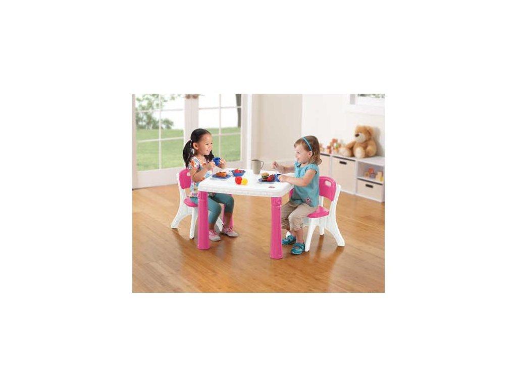 STEP2 Dětský stoleček se 2 židlemi - růžový