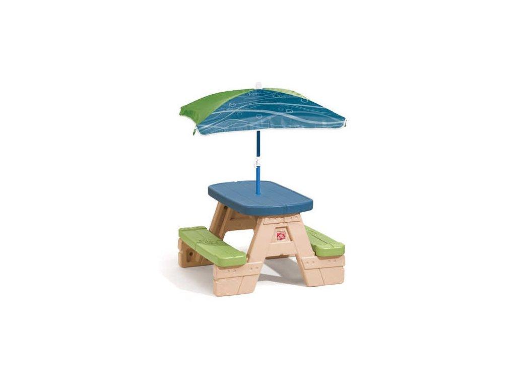 STEP2 Dětský piknikový stůl se slunečníkem