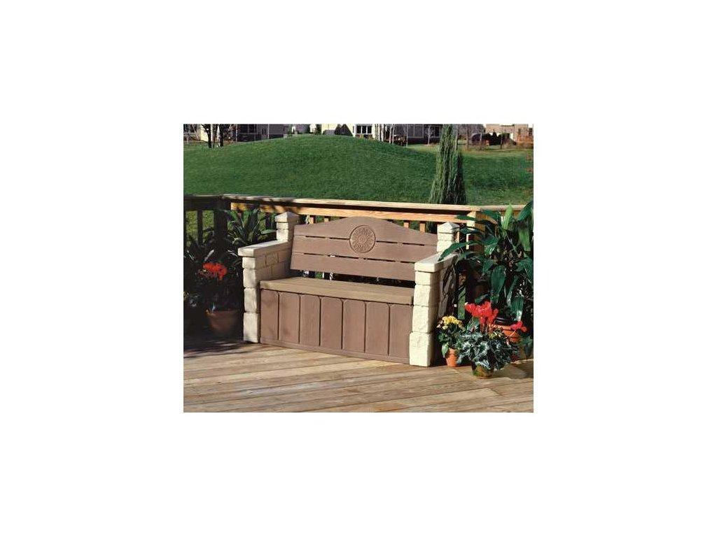STEP2 Zahradní lavička s úložným prostorem