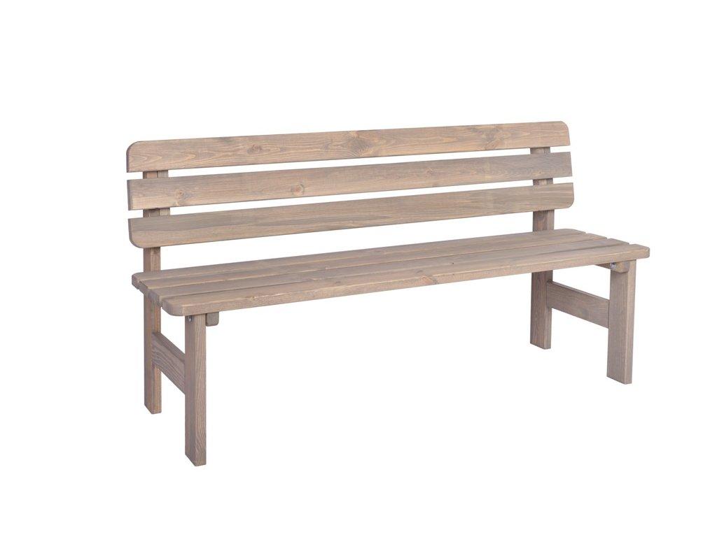 VIKING lavice ŠEDÁ - 150 cm