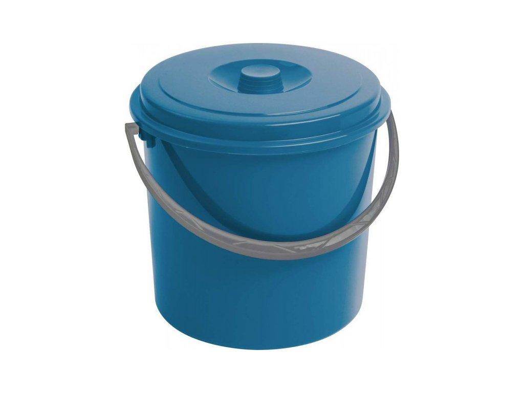 Kbelík s víkem CURVER 16L - modrý
