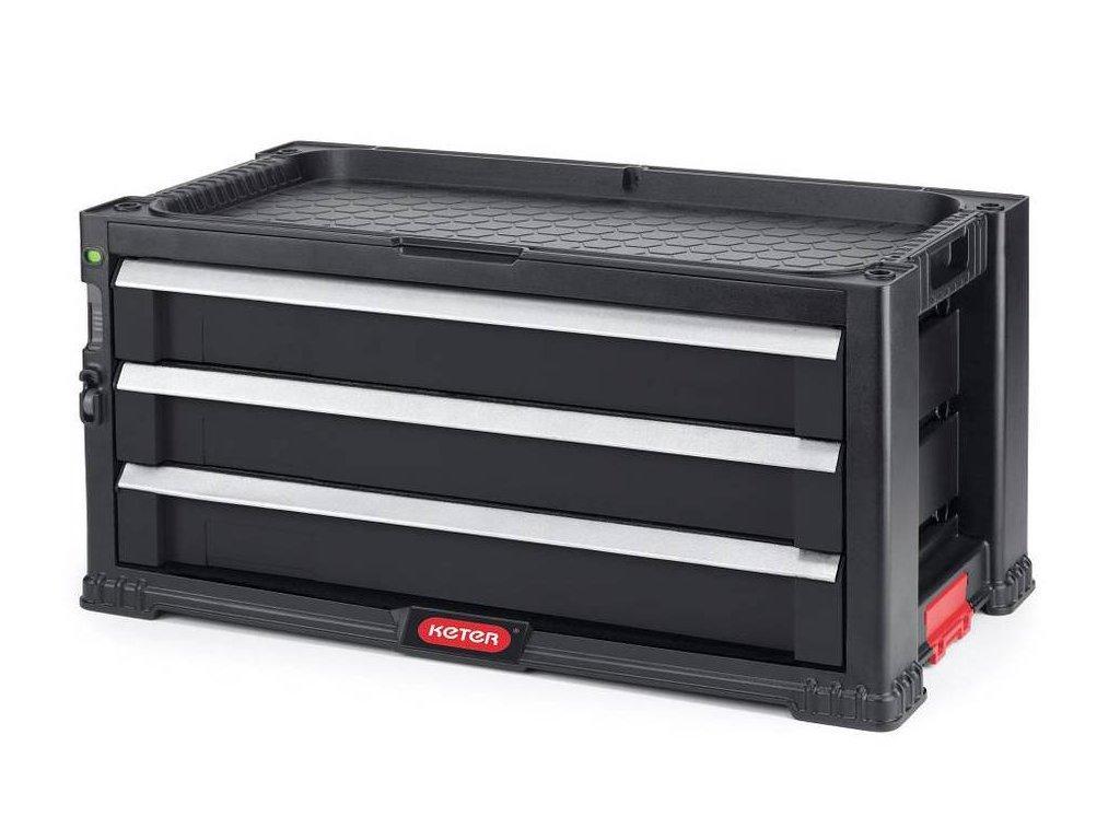 KETER skříňka na nářadí - 3 zásuvky / BLACK