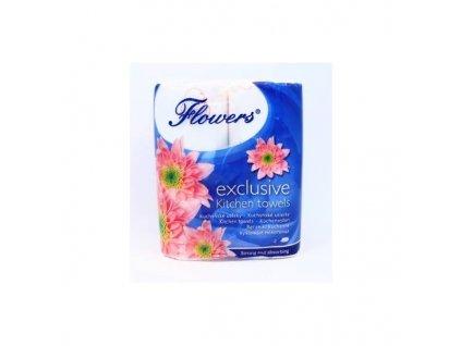 Papírové kuchyňské utěrky Flowers 2 role