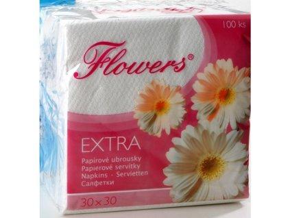 Papírové ubrousky Flowers 100ks