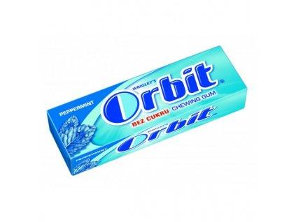 Orbit Peppermint bez cukru žvýkačky dražé 10ks, modré
