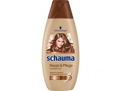 Schwarzkopf Schauma Supersoft Repair & Care 400ml vlasový šampon na poškozené vlasy - kokos