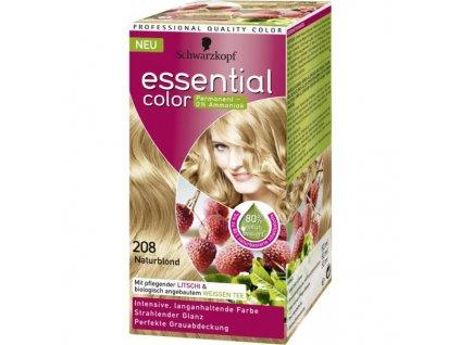 Schwarzkopf Essential color 208, barva na vlasy - přírodně plavá