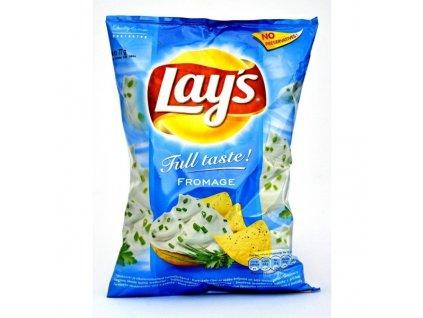 Lays Full Taste Fromage chipsy, brambůrky 77g sýr a pažitka