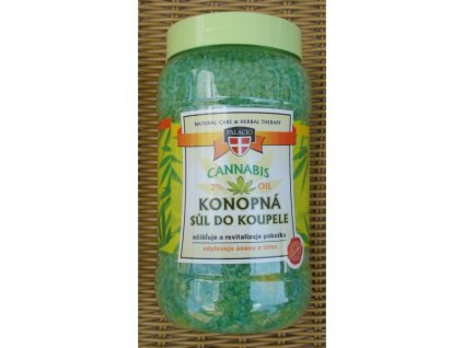 Konopná sůl do koupele Cannabis herbal therapy 1200g