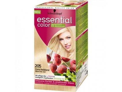 Schwarzkopf Essential color 205, barva na vlasy - extra světle plavá