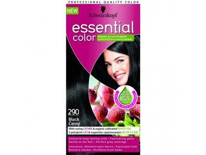 Schwarzkopf Essential color 290, barva na vlasy - černá