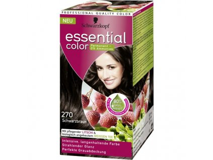 Schwarzkopf Essential color 270, barva na vlasy - černohnědá