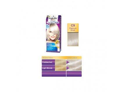 Palette Intensive Color Creme C9 - stříbřitě plavá barva na vlasy
