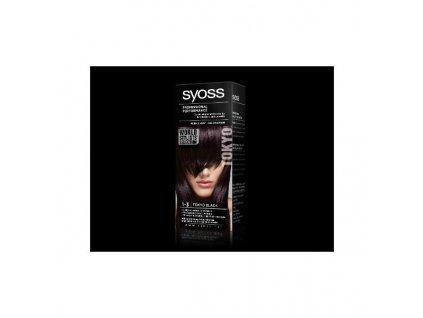 Syoss World Stylists Selection 1-3 Tokijská černá barva na vlasy