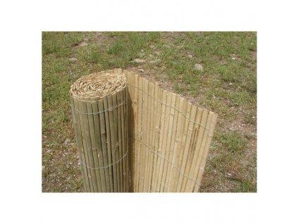 Bambusová rohož plotová - štípaná 130x500 cm