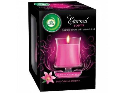 AIR WICK svíčka Eternal Scents Růžové orientální květy 130g