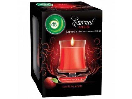 AIR WICK svíčka Eternal Scents Rubínově červená jablka 130g