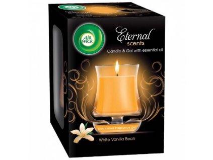 AIR WICK svíčka Eternal Scents Vanilková vůně Vánoc 130g