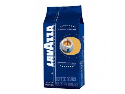 Zrnková káva Lavazza Crema E Aroma, 1kg modrá