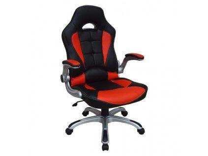 Kancelářské křeslo RACING PRO ZK-014 černočervené
