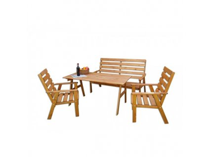 SYLVA souprava dřevěného zahradního nábytku